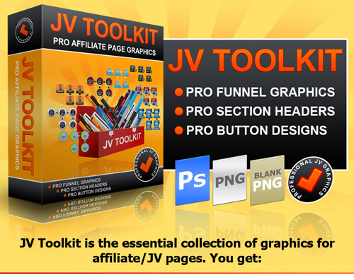 JV TOOLKIT – Pro Affiliate Page Graphics For A Discount!