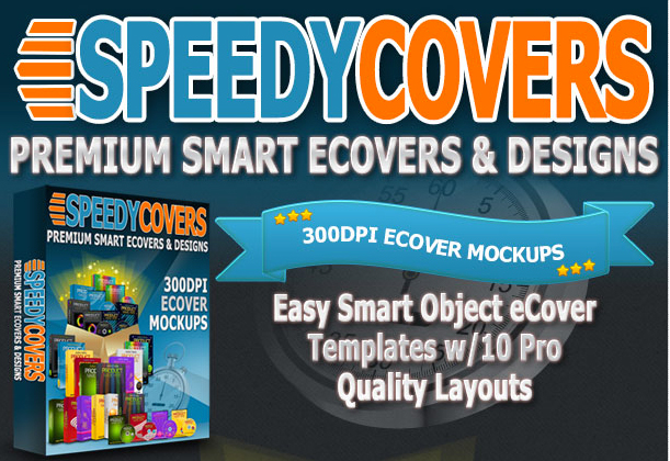 SpeedyCovers – The Ultimate Smart-Object Mockup and Design Package!