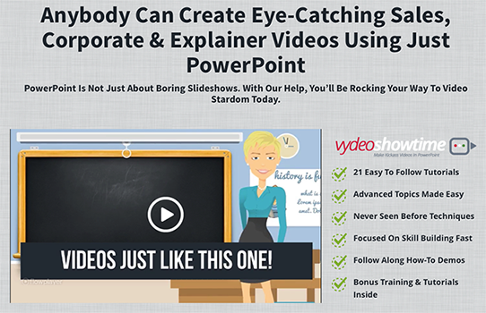 Vydeo Showtime – Create amazing animated sales and explainer videos in PowerPoint