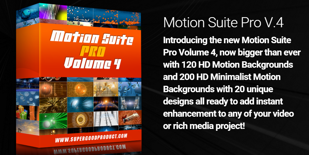 Motion Suite Pro V4 – 320 HD Motion Backgrounds